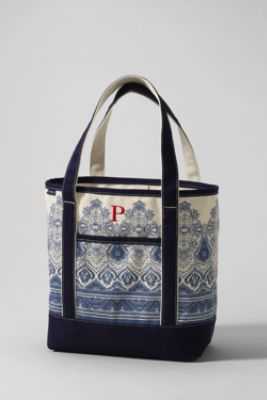Print Medium Open Top Tote-LOVE!