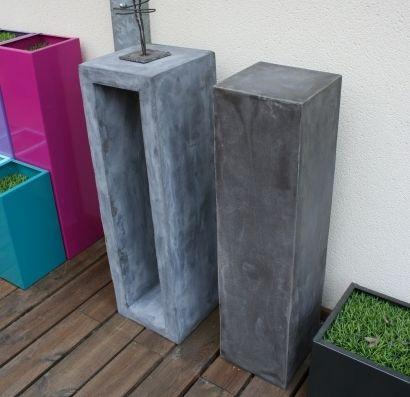 colonne piedestal b ton ajour beton beton cir et. Black Bedroom Furniture Sets. Home Design Ideas