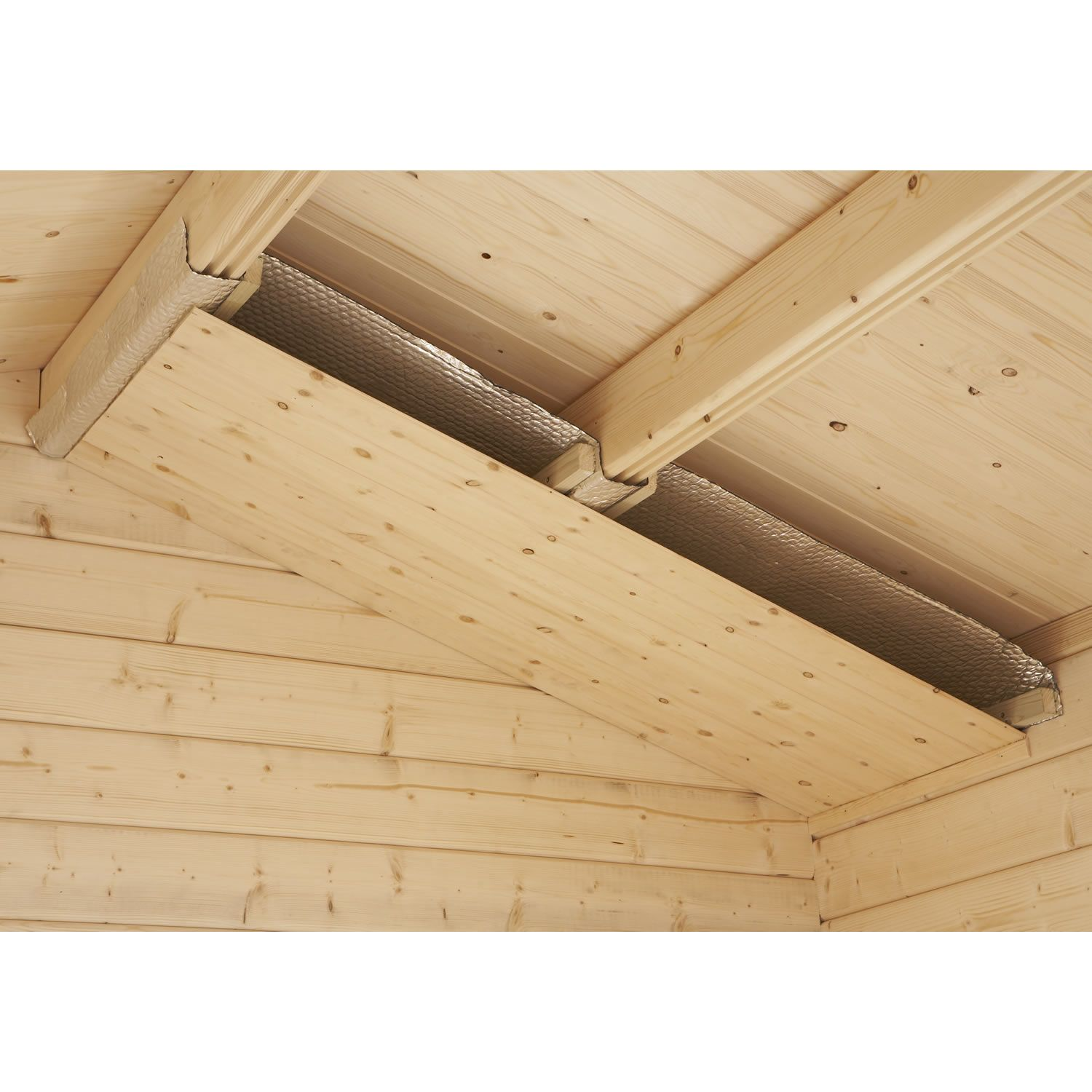 Visual Example Of Shed Ceiling Insulation Application Http Www Ecohome Insulation Co Uk Products Insulating A Shed Shed Ceiling Ideas Insulated Garden Room