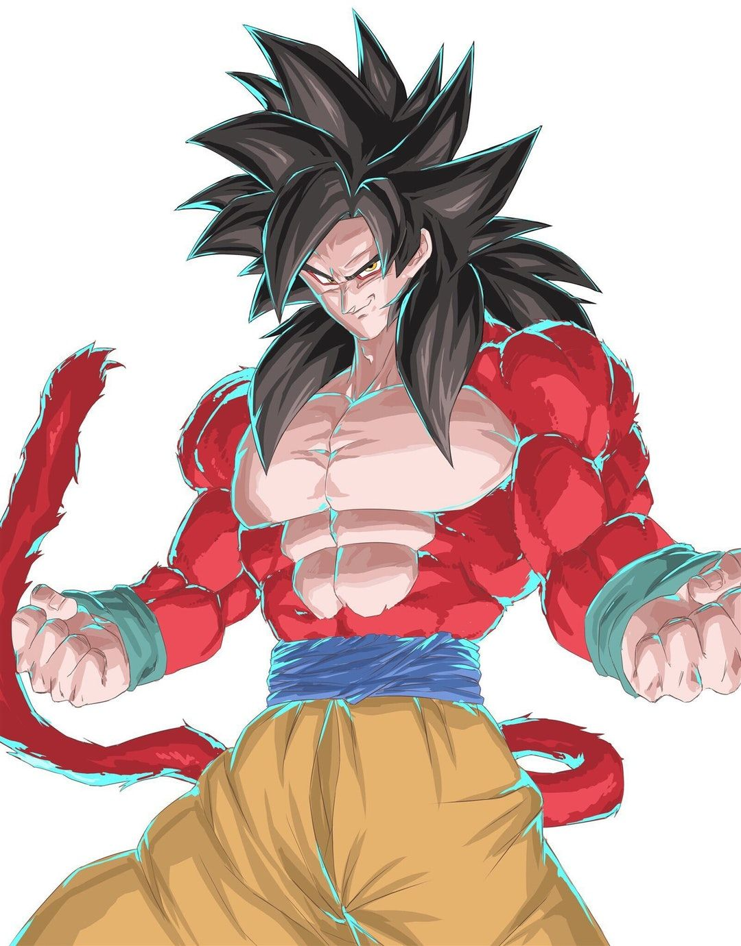 Super Saiyan 4 Goku by りーや [hakuhaku0315 on Twitter
