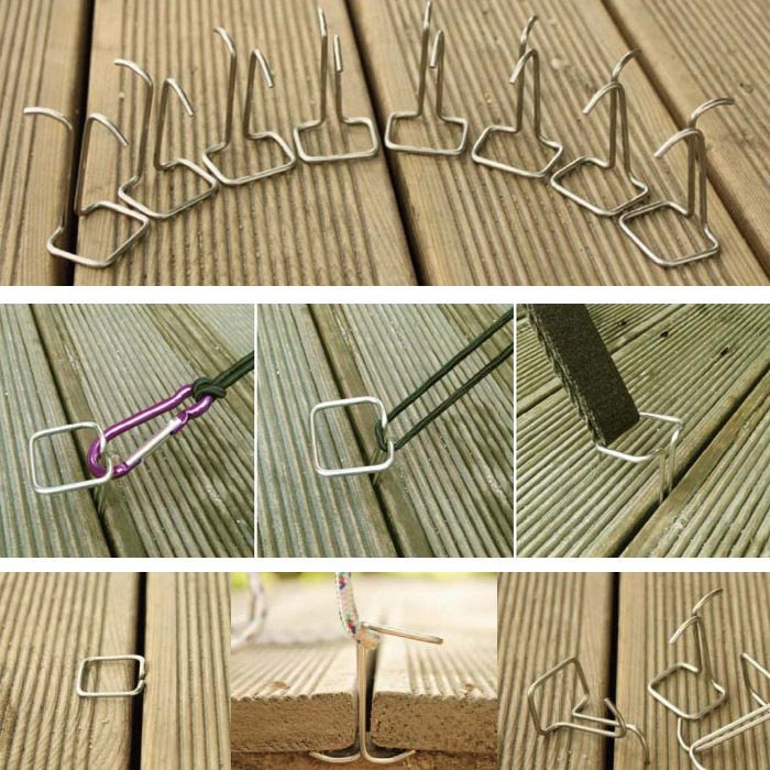 Kmtrad Wood Deck Pegs Smart Hooks Camping Backpacking Gear Outdoor Tent Tarp Acc Tent Pegs Backyard Furniture Outdoor Wood