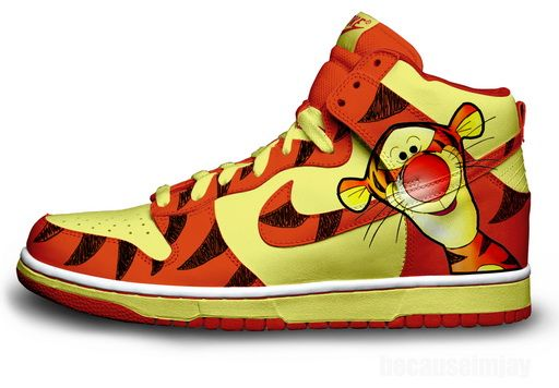 san francisco 67468 c6103 Disney nike Shoes   Nike Dunks SB High Disney Shoes-Tiger   Colorful Nikes