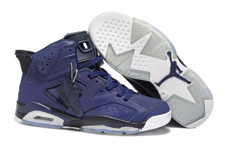 Nike Air Jordan 6 Retro Purple Black White Shoes