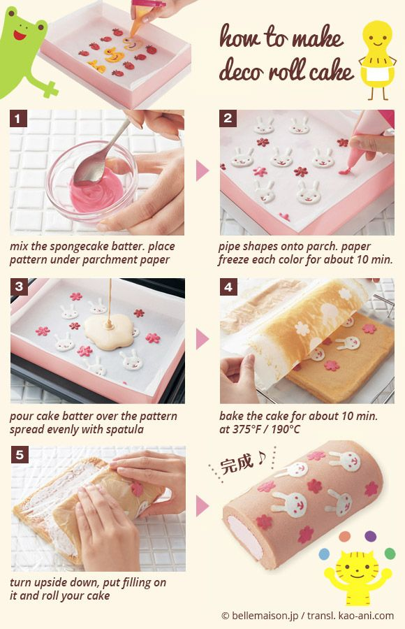 Super Easy Japanese Cake Roll Instructions Be Creative You Can Make ANY Design
