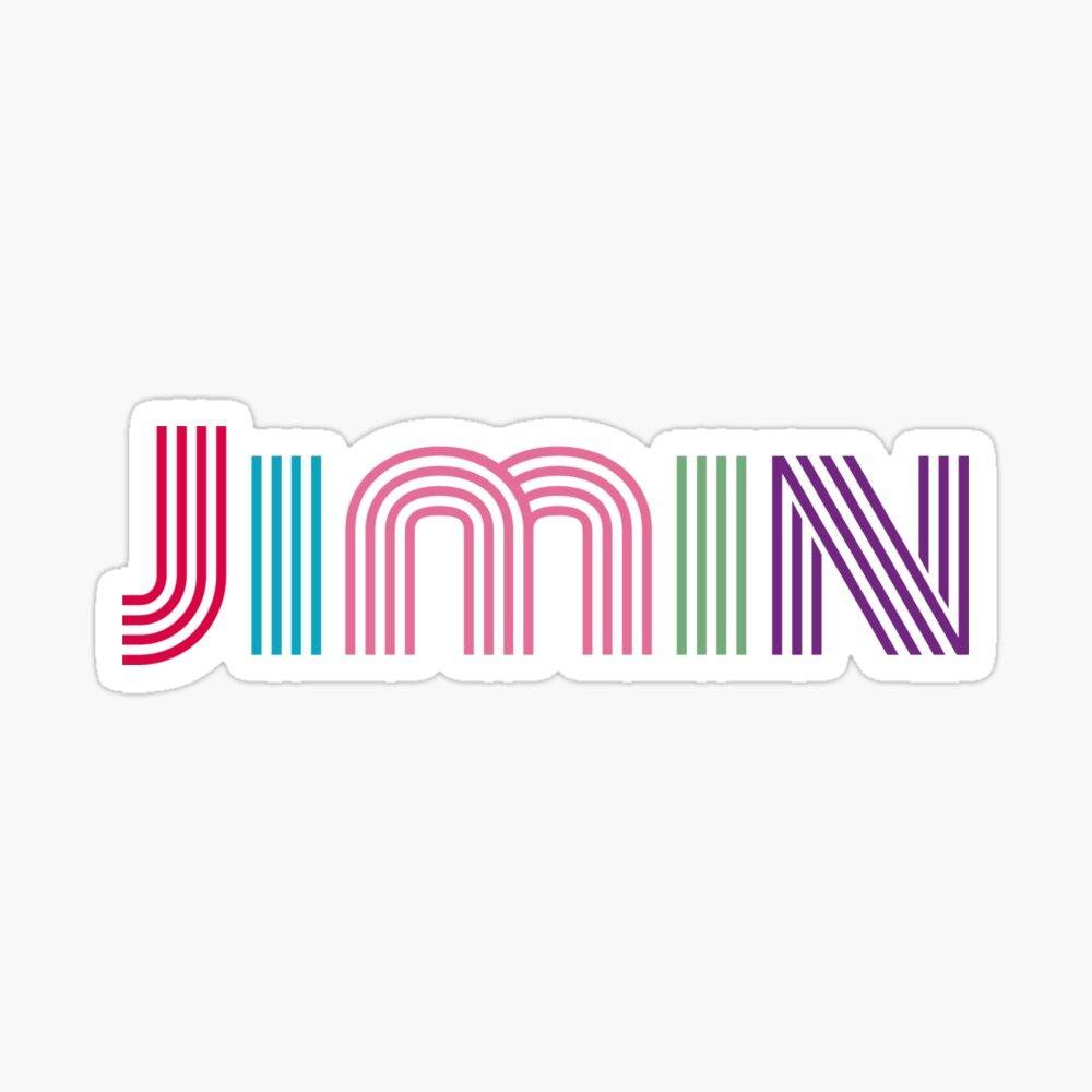 Bts Park Jimin Dynamite Font Sticker By Serendipitousmt In 2020 Bts Jimin Jimin Bts Wallpaper