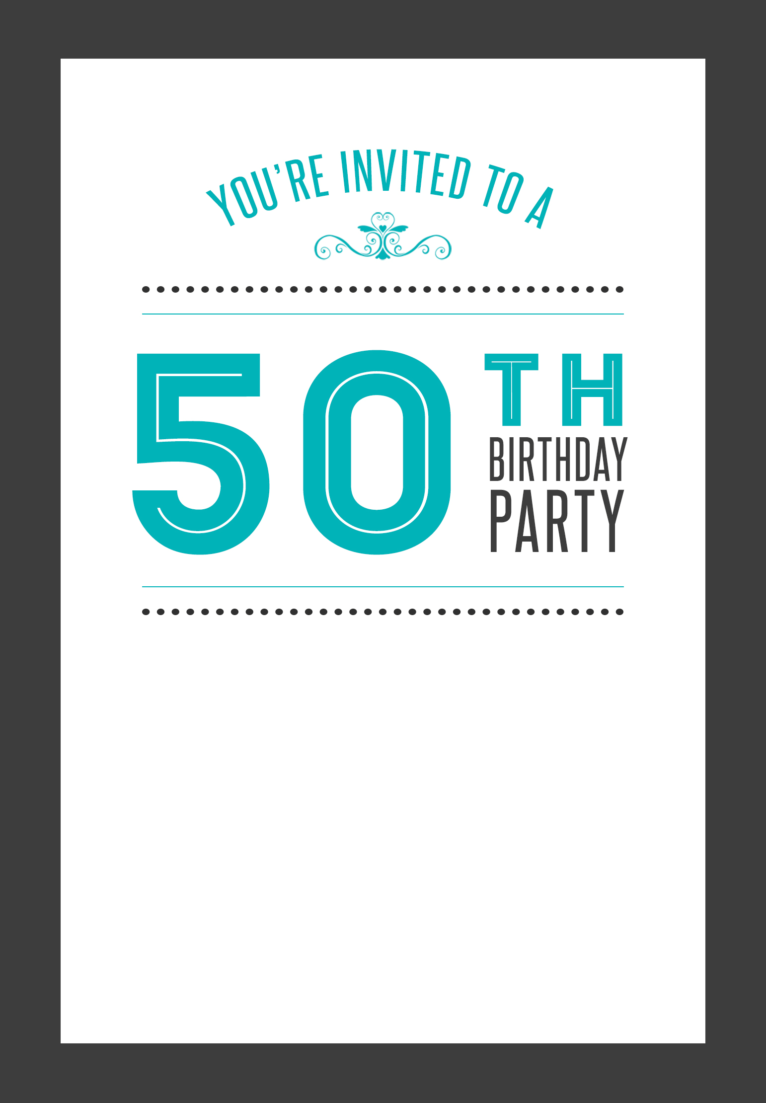 99 50th birthday invites