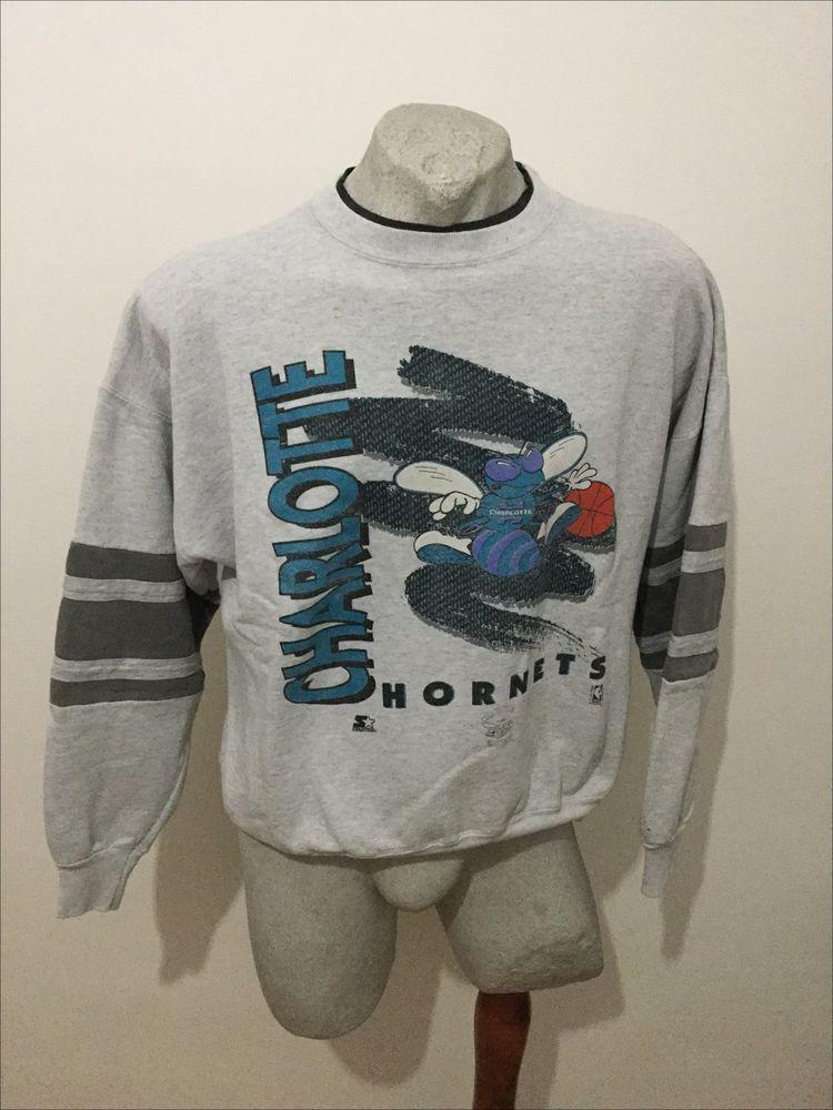 75bb8cba2ed3b9 Maglia starter nba basketball charlotte hornets felpa sweatshirt vintage