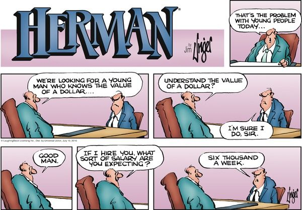 This #Herman #comic takes a look at the joys of the job interview - groupon resume