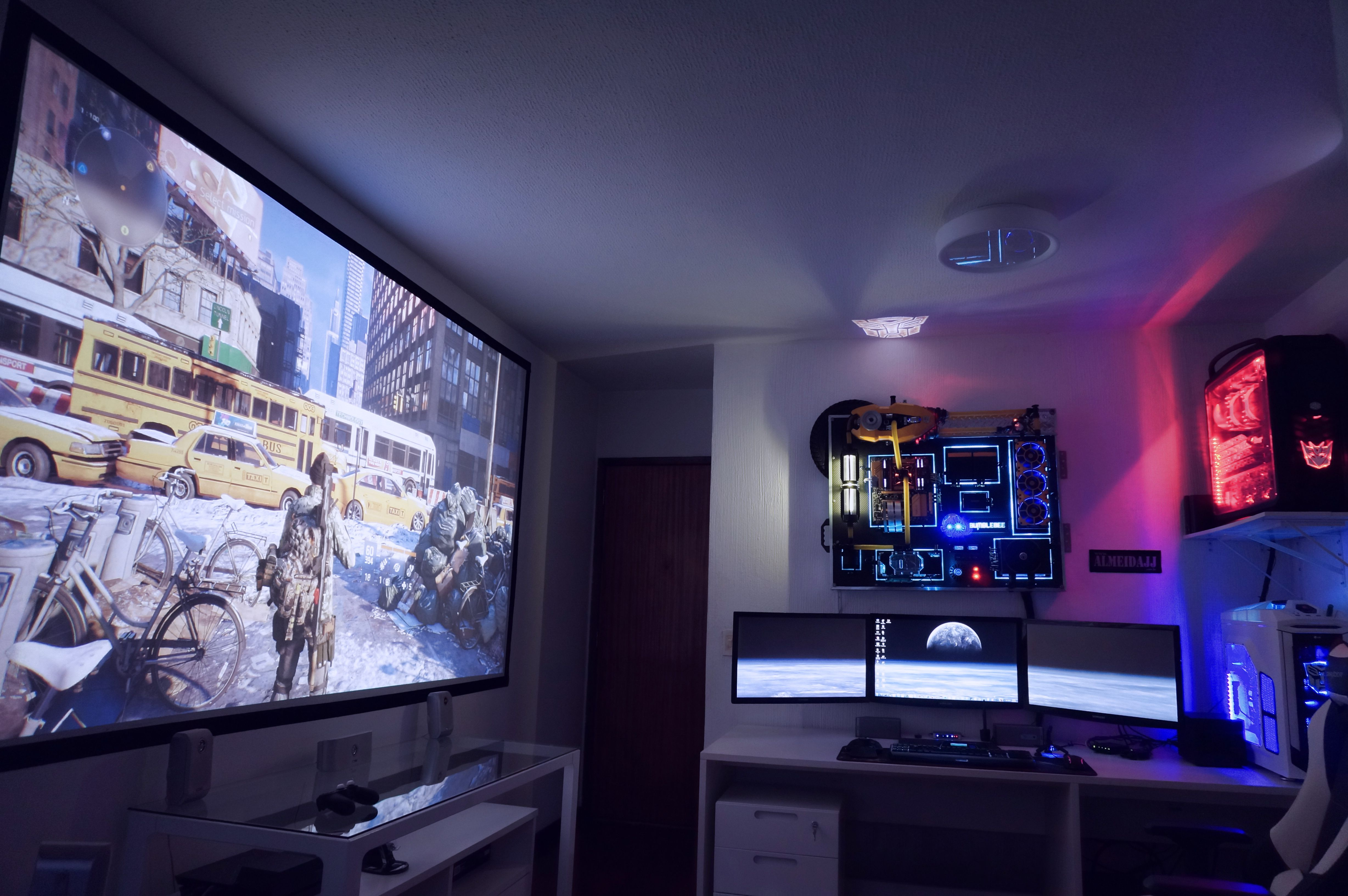 Ultimate Battlestation Office Pinterest Gaming Setup Telephone Line Wiring Group Picture Image By Tag Keywordpictures 36 Core Transformers Workstation Pc 125 Inch Screen