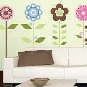 Growing Flowers Wall Mural Stickers