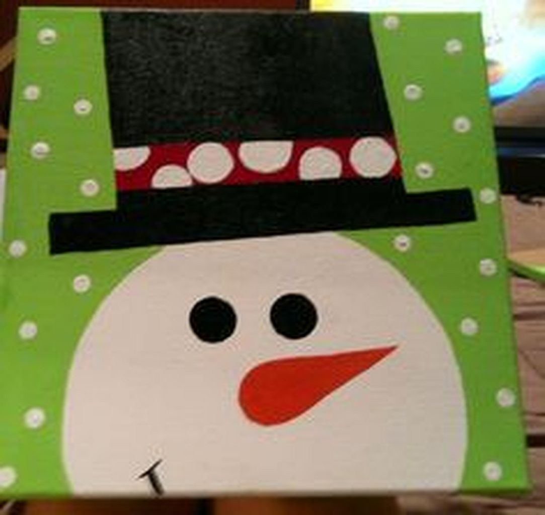Christmas Paintings For Kids On Canvas.Christmas Paintings On Canvas Easy Ideas In Home 3 Crafts