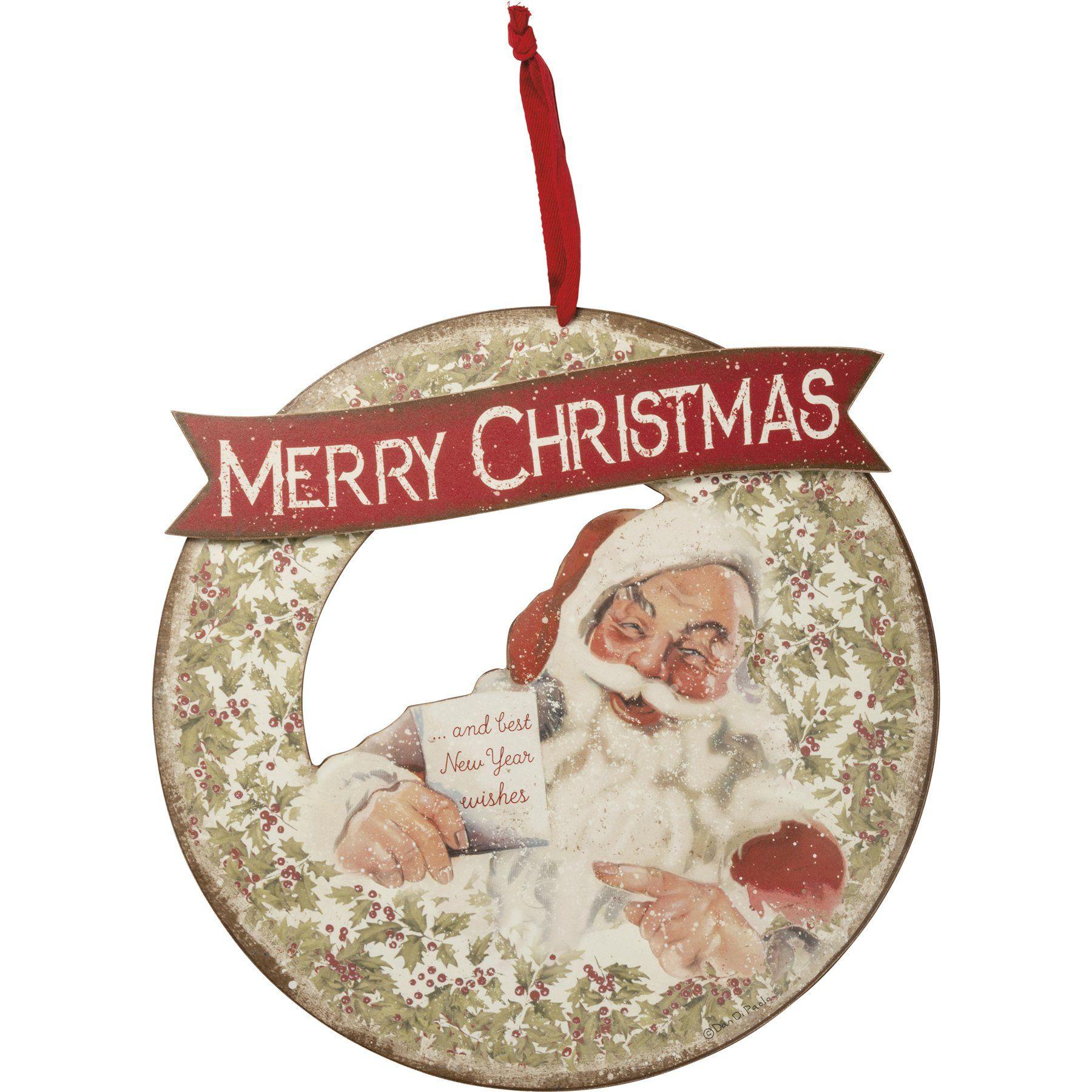 Merry Christmas Santa Wreath