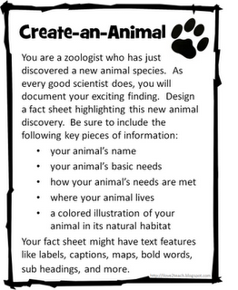 The joy of being an L2 teacher is that I can use totally elementary English concepts and use them with the more advanced French learners. What a good way to incorporate descriptive writing! (And if it was an animal you SAW, you can use passe compose and imparfait- genius, i know). Oh, and it's FREE.