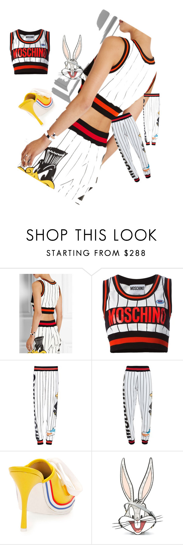 """Untitled #91"" by marinelaantonova ❤ liked on Polyvore featuring Moschino"