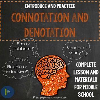 Connotation lesson plan high school