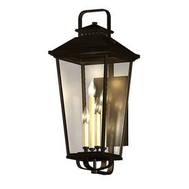 allen roth Parsons Field 22 in H Black Outdoor Wall Light LW