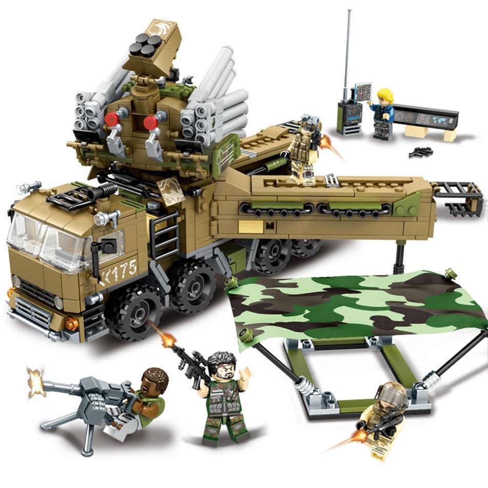 Kids Building Block Set Army Tank Educational Construction Toy Compatible Bricks