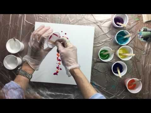 ( 021 ) Acrylic pouring a totally different way - YouTube
