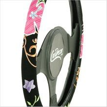Perfect Mother's Day gift...Pink Flower Car Steering Wheel Cover. visit www.fizzypops.com #mothersday