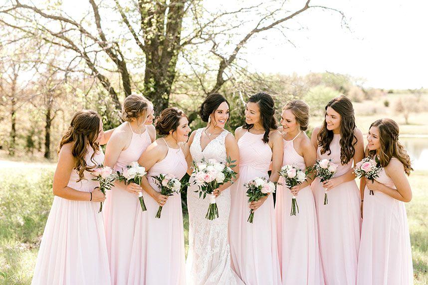 e7967eecd9e Light pink bridesmaids