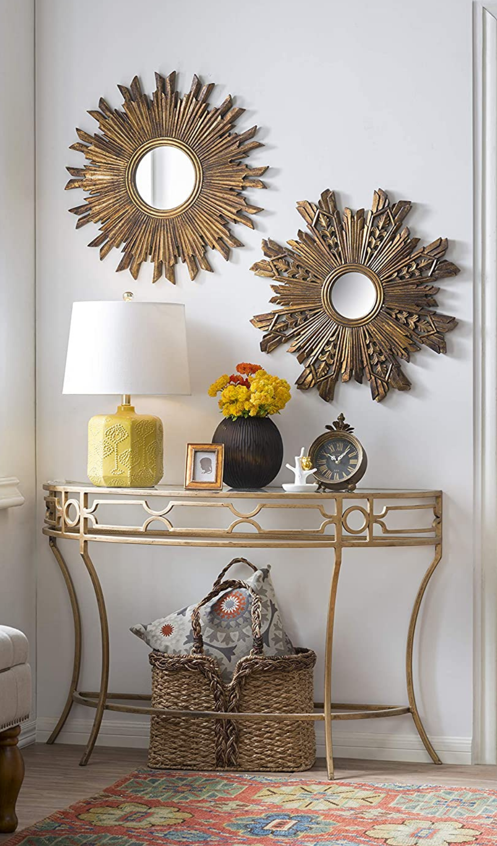 Decorative Wall Mirror With Gold Finish In 2021 Home Decor Living Room Styles Rustic Winter Decor