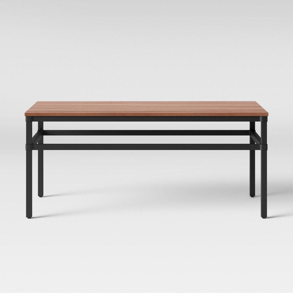 Ellsworth Wood Metal Mesh Coffee Table Threshold Rustic Industrial Coffee Table Coffee Table Solid Coffee Table [ 1000 x 1000 Pixel ]