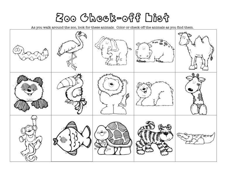 Online Worksheets For Kindergarten Zoo Zoo Animals Preschool Zoo Activities Animal Worksheets