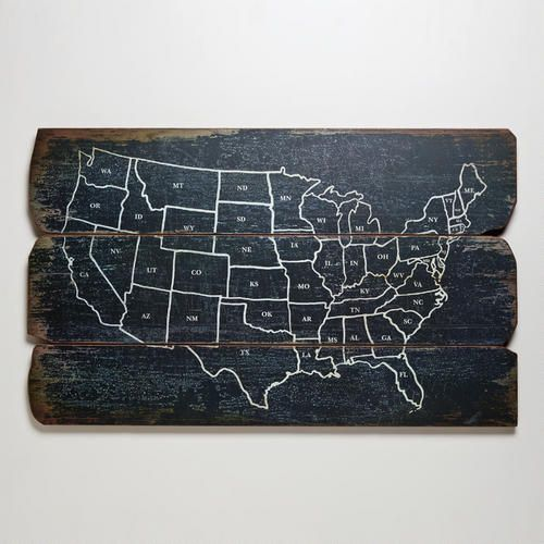 World Market Us Map Wood USA Wall Map | Wall maps, Remodel bedroom, Decor