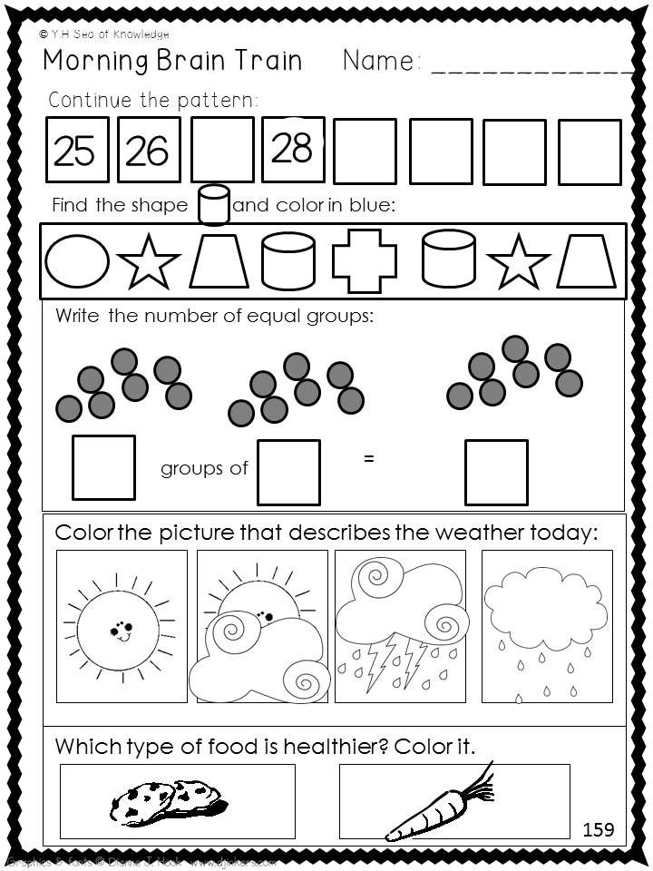 Morning work for kindergarten and ELL learners. Year round. 200+ ...