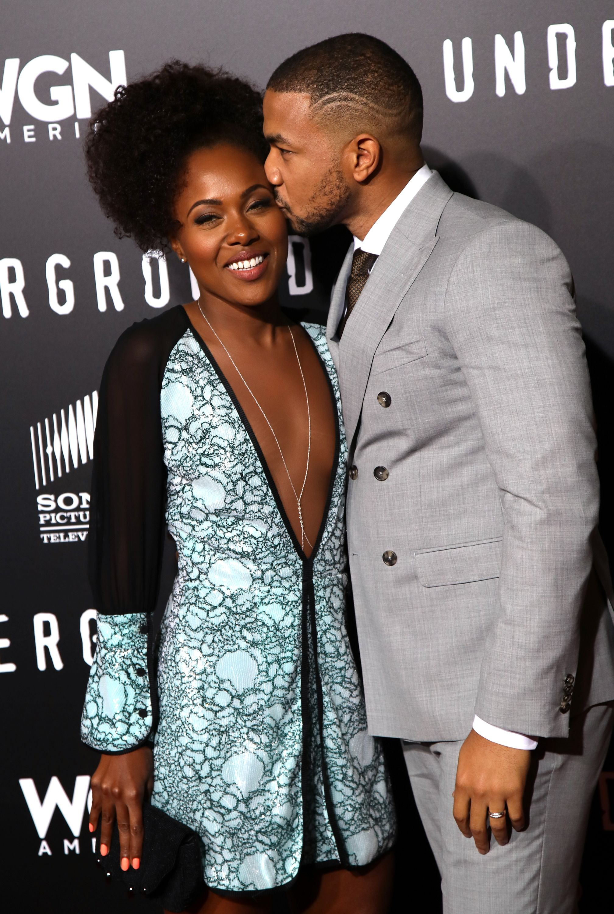 DeWanda Wise with charming, Husband Alano Miller