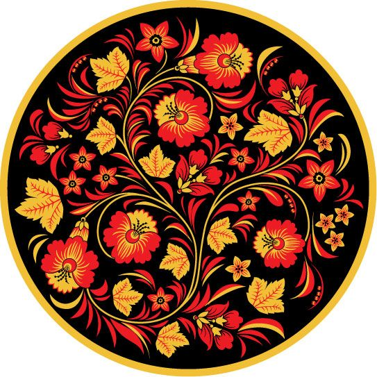 Хохломская роспись на полосе 148