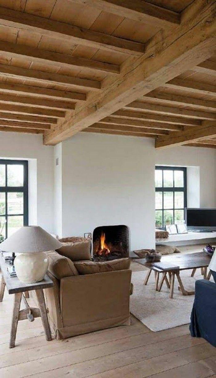 1001 id es pour transformer une chemin e rustique en moderne maison dans le perche. Black Bedroom Furniture Sets. Home Design Ideas