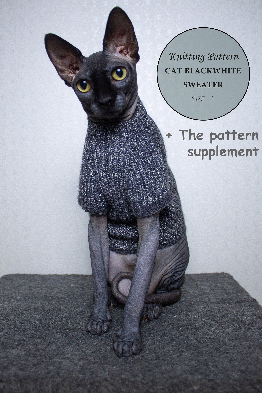 Cat turtleneck knitting size L pattern PDF The pattern ...