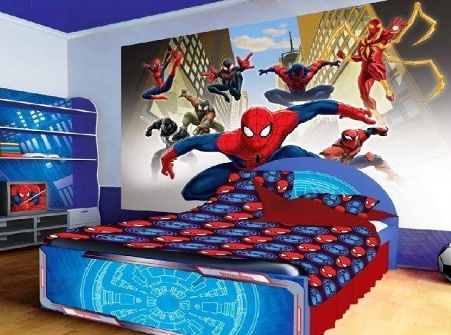 Desain Kamar Tidur Anak Laki Laki Spiderman Desain Kamar Tidur