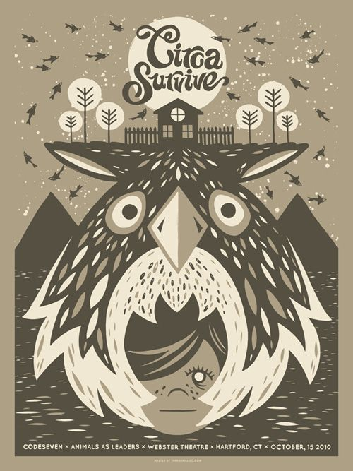 Circa Survive Circa Survive Art Band Posters