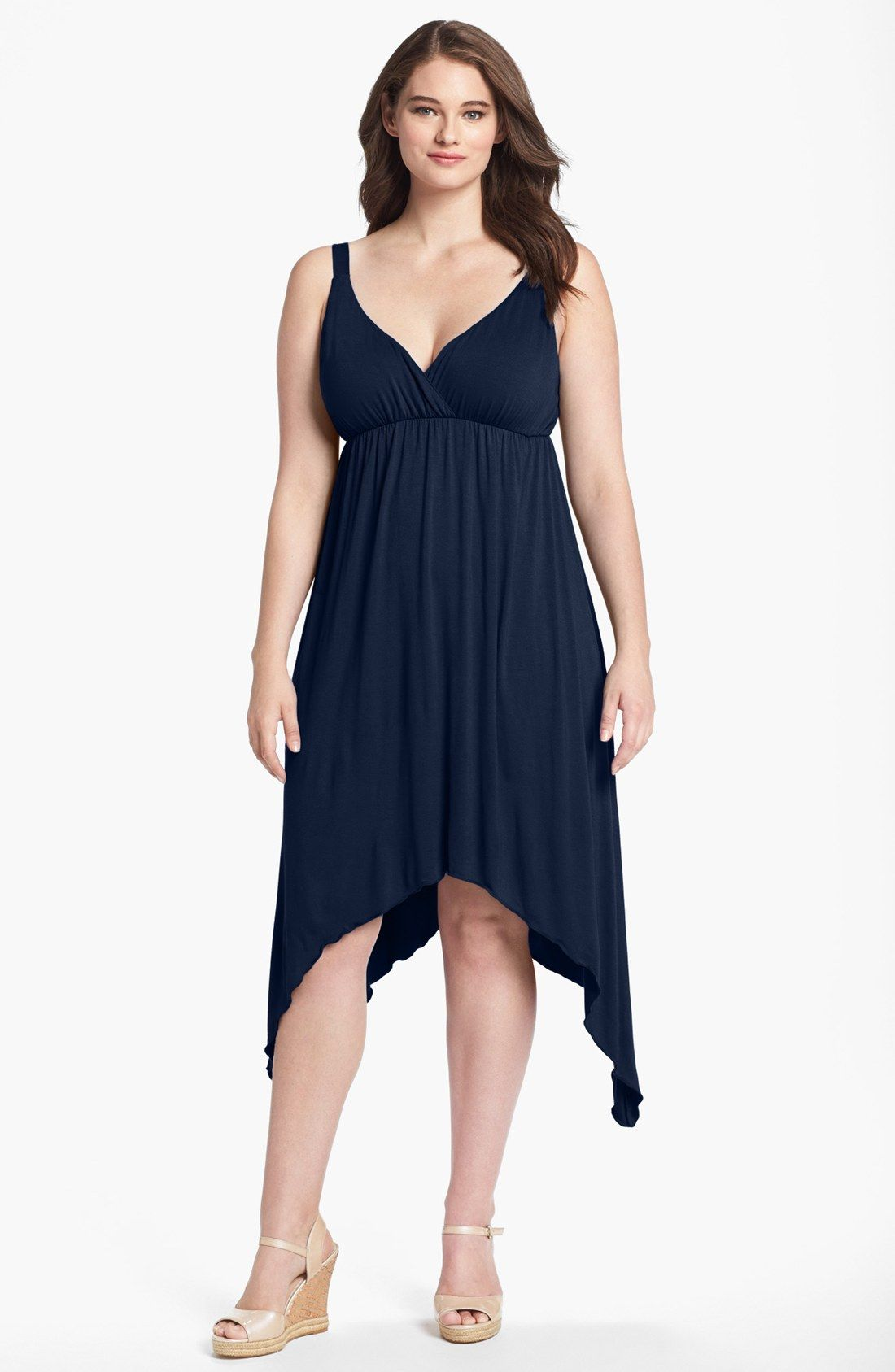 Loveappella Sharkbite Midi Dress Plus Size Nordstrom Jennie