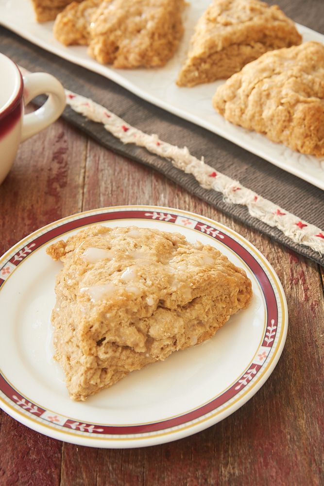 Cinnamon Oat Scones Cinnamon Oat Scones are soft, chewy, and not too sweet. Such a great treat for breakfast, brunch, or an afternoon snack. Bonus points for being quick and easy, too! - Bake or Break
