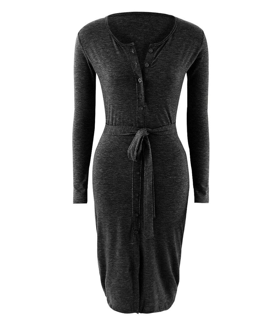 c7475153332 Mansy Womens Casual Long Sleeve Button Front Dress   More info could be  found at the image url.(It is Amazon affiliate link)  WomenDressesCollection