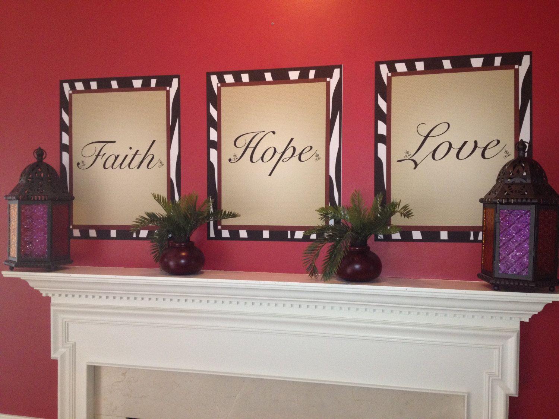 Faith Hope And Love Inspirational Christian Theme Home Decor With