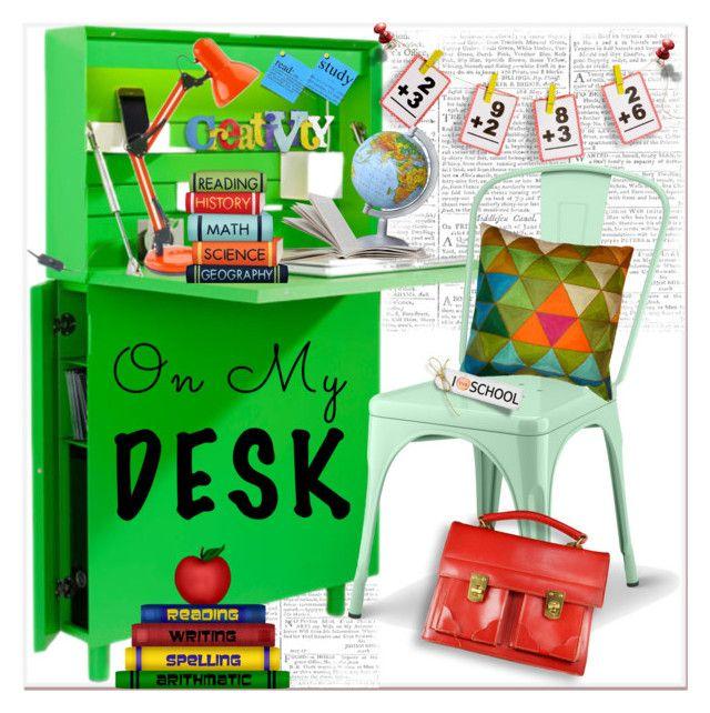 """school desk..."" by nihal-imsk-cam on Polyvore featuring interior, interiors, interior design, ev, home decor, interior decorating, Müller Möbelwerkstätten ve Pillowfort"