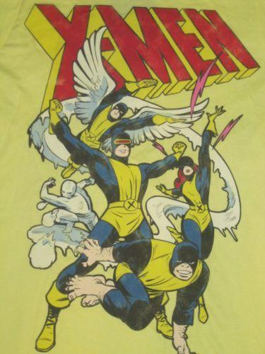 NWT Men's Hot Topic X-MEN T-Shirt ~ Sz Small ~ Yellow ~ Cool Vintage Look
