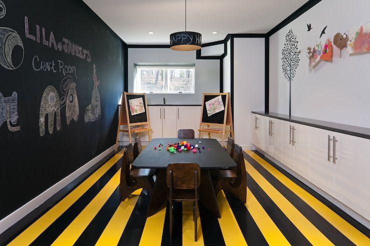 Kids Playroom In Basement suzie: haus interior - bumblebee, yellow & black, basement