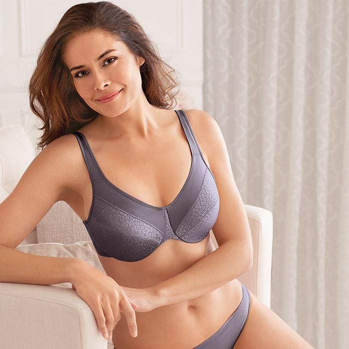 dd54ad9670 Bali® Full Coverage Minimizer Non-Foam Underwire Bra (6550)