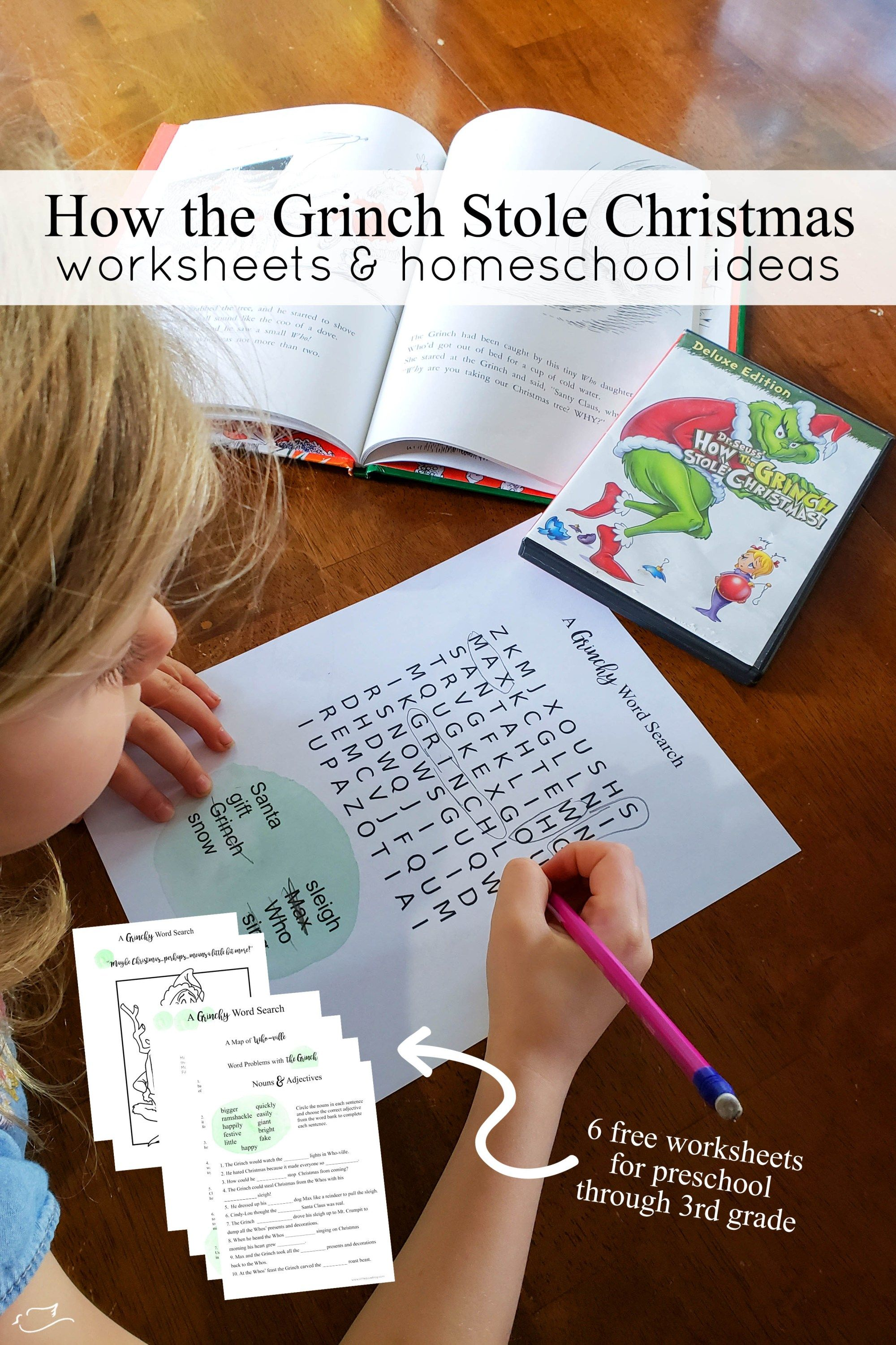 How The Grinch Stole Christmas Worksheets With Images