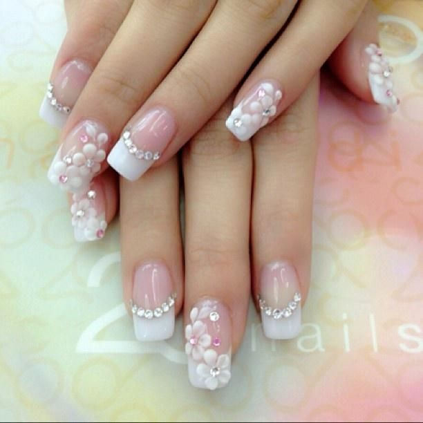 ♥༻ Nails Art De Novias༺♥༻ | Uñas french | Pinterest | De novia ...