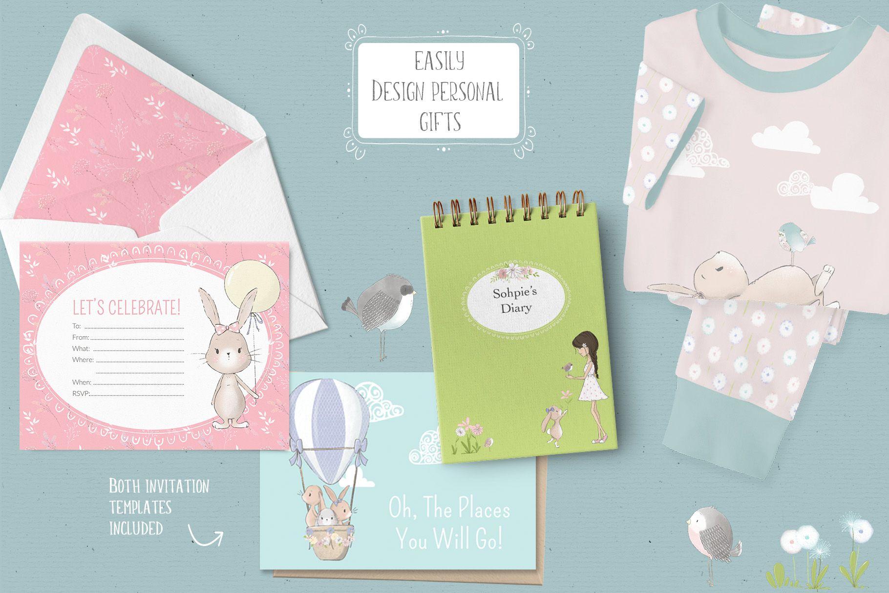 Hop Into Spring Illustration Kit | Illustration, Surface ...