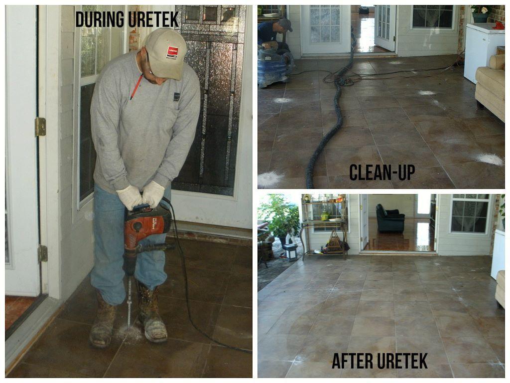 Houston Tx Foundation Repair Tile Flooring Uretek Technicians