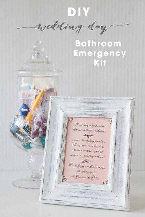 Diy Bathroom Emergency Kit Free Printables Bathroom Emergency Kit Wedding Emergency Kit Bride Emergency Kit