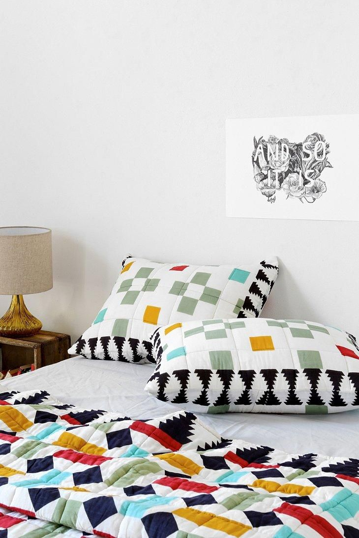 magical thinking geo ladder sham set of 2 urbanoutfitters urban outfitters pinterest. Black Bedroom Furniture Sets. Home Design Ideas