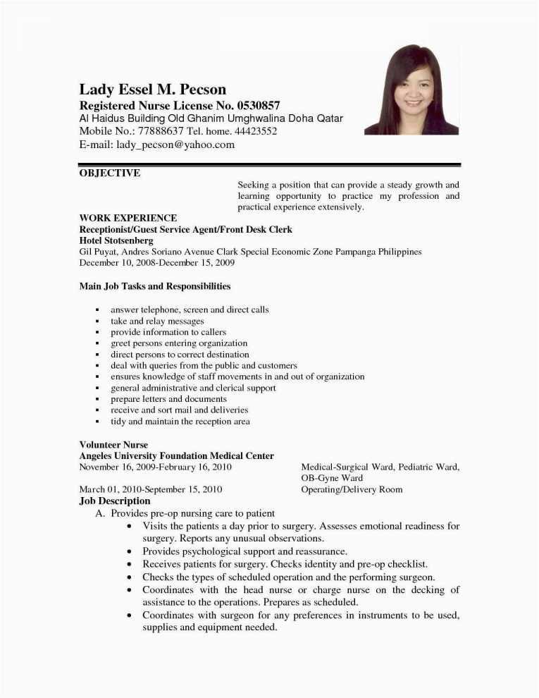 resume nursing resume